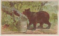Victorian Alden Fruit Vinegar with Bear & Barrel Trade Card