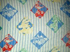 Looney Tunes Twin Flat Fitted Bed Sheets Baseball Taz Bugs Bunny Vintage