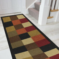 "Boarders Rugs Anti-Bacterial Rubber Back  Runner Non-Skid/Slip 20""x59""runner Rug"