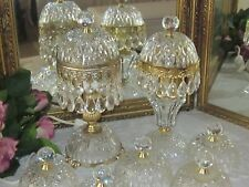 FRENCH CRYSTAL GLASS BOUDOIR DOMES SHADE TO SUIT HOLLAND / DUTCH & ITALIAN LAMP