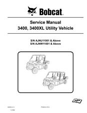 Bobcat 3400 & 3400XL Utility Vehicles Updated 2011 Edition Repair Service Manual