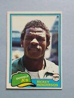 1981 Topps Rickey Henderson Oakland Athletics Baseball Card #261