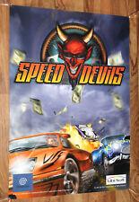 Speed Devils Game Store Rare Promo Old Vintage Poster Sega Dreamcast 1999
