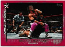 """Bret """"Hit Man"""" Hart 2015 Topps WWE Undisputed Famous Finishers Red Card # FF11"""
