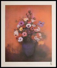 Odilon Redon blu vaso con fiori Poster Stampa d'arte con telaio in alluminio 60x48cm