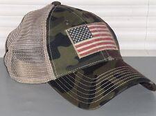 POLO RALPH LAUREN Trucker Hat Sport Ball Cap, USA Vintage Flag, Camo, Camouflage