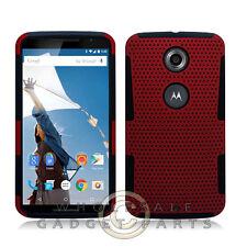 Nexus 6 Hybrid Mesh Case Red Protector Guard Shield