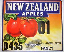 Vintage New Zealand fruit case labels £3.00 each