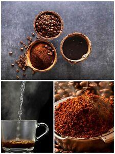 Black Coffee been ground fine Powder pure Natural grade Quality A Ceylon  (100g)