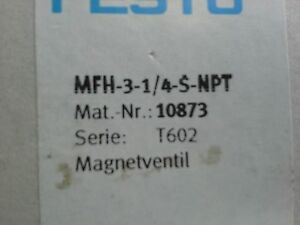 FESTO MFH-3-1-1/4-S-NPT VALVE