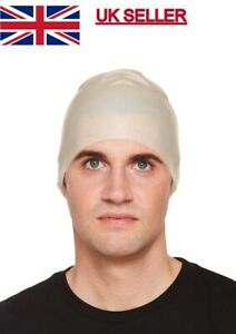 Latex Fake Bald Head Skinhead Wig Cap Clown Men's Ladies Fancy Dress