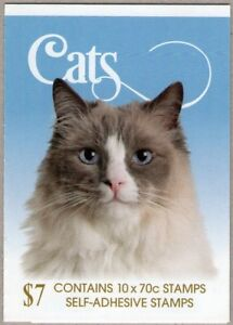 """2015 AUSTRALIAN STAMP BOOKLET CATS - """"CATO"""" - 10 x 70c STAMPS MUH"""