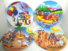 McDonalds Ronald McDonald Vtg Collector Plates Melamine Carnival Dishes 1990s