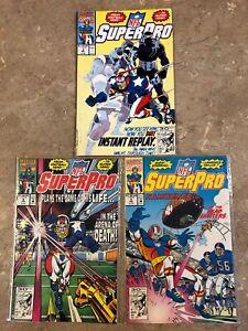 NFL SuperPro Comic Books Lot of 3 Issues #3, 4, 5 Marvel Lot #M63
