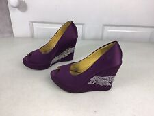 ED HARDY Sequin Platform Heels Women's 7