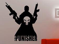 The Punisher Vinyl Decal Superhero Wall Sticker Movie Comics Art Room Decor 12pu