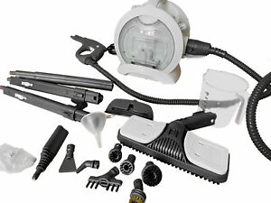 Valemo 1500W Multipurpose Heavy-Duty Canister Steam Cleaner w/ 18 Accessories