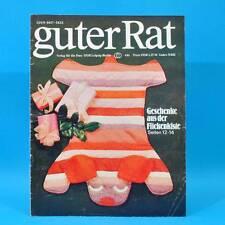 Guter Rat 4-1981 Verlag für die Frau DDR Ente Schulranzen Restalkohol Flicken D