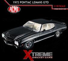 ACME A1801205 1:18 1972 PONTIAC LEMANS GTO STARLIGHT BLACK RAM AIR
