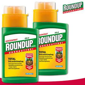 Roundup Universal Unkrautfrei 2 x 250 ml Total Unkrautbekämpfung Glyphosat