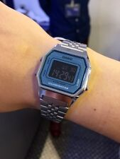 Casio RETRO SILVER&BLUE WATCH LA680WA-2BE orologio last season reloj MONTRE UHR