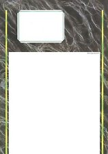 Decadry OPM-3431 Marble Grey 3 Fold A4 Card Make Your Own Cards / Menus