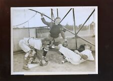 March 6 1955 Pee Wee Reese Rube Walker Brooklyn Training Camp 7 X 9 Wire Photo