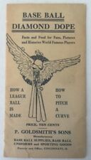 1913 Baseball Diamond Dope P. Goldsmith's Sons Brochure