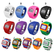 Unisex Students Colorful Digital Wrist Watch Men Women Plastic Round Watch