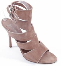 JEAN-MICHEL CAZABAT Suede Leather Sandal Rose Silver Gladiator Strappy Sz 40