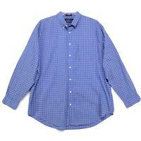 Daniel Cremieux Shirt Mens Size XL Blue Plaid Long Sleeve Button Front