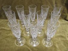 """12 flutes à champagne cristal Saint Louis """"etoiles"""" (crystal champagne flutes)"""