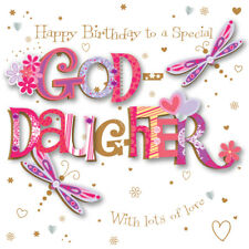 Goddaughter Birthday Handmade Embellished Greeting Card By Talking Pictures