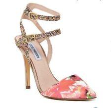 c1640d6145a STEVE MADDEN porttt-t sz 9 M floral women s high heels ankle glitter straps  gold