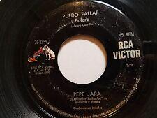 "PEPE JARA - Puedo Fallar / Tres Balazos Al Sol 60's LATIN BOLERO 7"" RCA Victor"