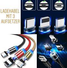3 in 1 Magnetisches LED Lade 1/2M Micro USB Typ C Handy Kabel Für Samsung iPhone