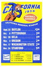 1956 University Of California Berkeley Cal Golden Bears Football Schedule