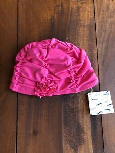 New Janie and Jack Swim Cap Girls Pink Size 12-24 Months