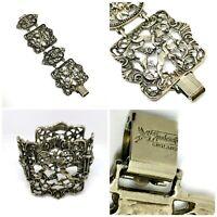 Jewelcraft Coro Wide Bracelet Cuff. Cherubs And Lions. Signed Costume Jewellery