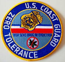United States Coast Guard Uscg Zero Torlerance patch 5 in hi seas drug int #1004