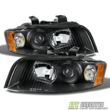 Black 2002-2005 Audi A4 S4 B6 Quattro Projector Headlights Replacement 02-05 Set
