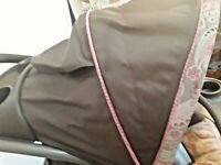 Graco Fast Action Classic Connect Stroller Part - Canopy Pink Paisley Print