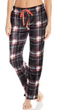 Bottoms Out Women's Printed Micro Fleece Pajama Pant, Black/White, Medium
