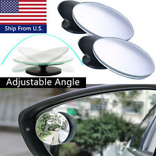 2nd Generation Convex Glass Blind Spot Rear-View Mirror 360° Rotatable Stick-On
