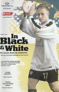 Port Vale v Colchester United  08-Mar-2005