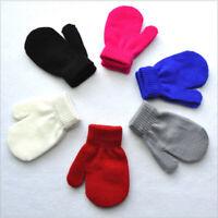 1Pair Winter Toddler Kids Gloves Baby Boy Girl Cute Soft Knitting Mittens Warm