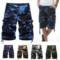 Men Military Army Combat Trousers Camouflage Tactical Work Camo Shorts Pants
