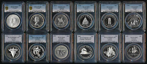 (1939-1990) 12 CANADA SILVER DOLLARS > PCGS MS63 to SP68 > EYE CANDY > NO RSRV