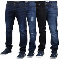 mens ripped denim slim fit jeans by Threadbare