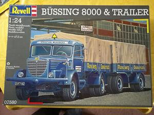 Revell, 1:24, 07580, Bausatz, Büssing 8000 & Trailer, NEU